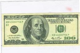 USA Faux Billet De 100 Dollars. - USA