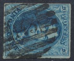 "Médaillon - N°11 Margé Obl P143 (8 Barres) ""Lanaken"". Superbe - 1858-1862 Medallions (9/12)"