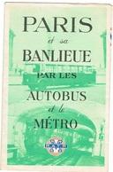Paris Plan R.A.T.P. AUTOBUS METRO - Europe