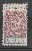 SELLO, TIMBRE, FISCAL ALAVA - VITORIA - EUSKADI - P. VASCO. 0,25 PTS - Post-fiscaal