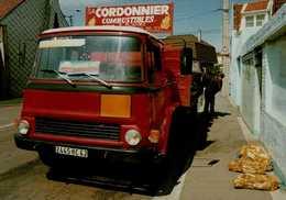 62-DIVION...LIVRAISON DE CHARBON OAR LES ETS CORDONNIER...BEAU CAMION....CPM - Divion