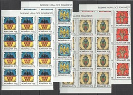 RM220 2008 ROMANIA COAT OF ARMS INSEMNE #6326-29 12SET MICHEL 68,4 EURO MNH - Sonstige