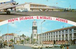 (Portugal) PONTA DELGADA S MIGUEL Aéroporto Aéroport  Avion Bus Car Autocar 404  R4 4L NSU - Açores