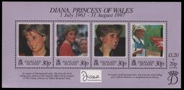 Falkland 1998 - Mi-Nr. Block 18 ** - MNH - Tod Von Prinzessin Diana - Falkland