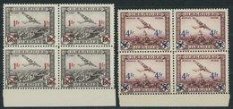 BELGIEN 399/400  VB **, 1935, Flugpostmarken In Unterrandviererblocks, Postfrisch, Pracht, Mi. (180.-) - Belgium