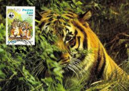 1984 - LAO (Laos)  TIGRE  Tiger  WWF - Laos