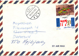 Israel Air Mail Cover Sent To Denmark 1984 - Airmail