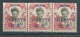 Canton  -  Yvert N° 78 (*)   Bande De 3   -   Aab 25906 - Unused Stamps