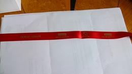 Carte Parfumée Ruban G.Armani Si Intense Passione Rouge Plus De 4o Cm - Cartes Parfumées