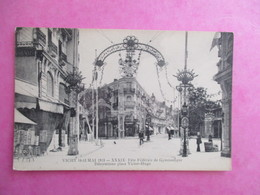 CPA 03 VICHY FETE FEDERALE DE GYMNASTIQUE DECORATIONS PLACE VICTOR HUGO - Vichy