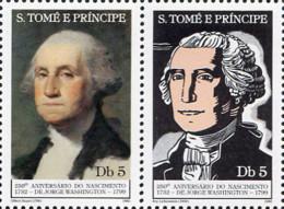 Ref. 232835 * NEW *  - SAO TOME AND PRINCIPE Islands . 1982. 250th BIRTH CENTENARY OF GEORGE WASHINGTON. 250 ANIVERSARIO - Sao Tome Et Principe