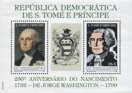 Ref. 310742 * NEW *  - SAO TOME AND PRINCIPE Islands . 1982. 250th BIRTH CENTENARY OF GEORGE WASHINGTON. 250 ANIVERSARIO - Sao Tome Et Principe