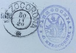 MEZZOCORONA 30/11/20 Ann.austr. + PARROCCHIA DI MEZZOCORONA SU CARTOLINA UFFICIO  PARROCCHIALE MEZZOCORONA - Trento