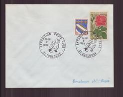 """Enveloppe Avec Cachet Commémoratif  """" Exposition Coope-club """" Du 17 Mai 1969 à Toulouse - Cachets Commémoratifs"""