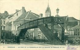 Dendermonde - Termonde - Le Pont Et La Passerelle Sur La Dendre Au Marché Au Lin - Dendermonde