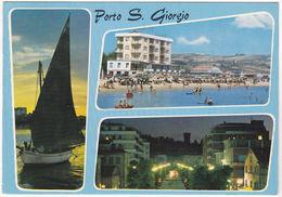 PORTO S. GIORGIO - ASCOLI PICENO - VEDUTINE - VIAGG. -50132- - Ascoli Piceno