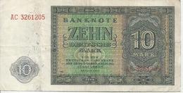 GERMANY DEM. REP.  P13b 10 MARK 1948 VF - [ 6] 1949-1990 : RDA - Rep. Dem. Alemana