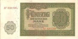 GERMANY DEM. REP. P14 50 MARK 1948 VF - 50 Deutsche Mark