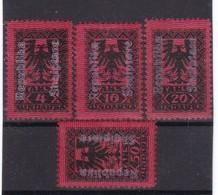 # Z.11311 Albania 1925 Full Set White Overprint MNH, Michel: Porto 22 - 25 - Albania