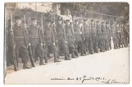 Carte Photo Militaria Soldats Souvenir 21 Juillet 1915 Avant Défilé ? La Revue - War 1914-18