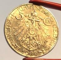 Kiautschou 1909 5 Cent Coin UNCIRCULATED (China German Occupation Kiau Chau Monnaie Münze Chine - China