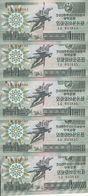 COREE DU NORD 1 WON 1988 UNC P 27 ( 5 Billets ) - Corée Du Nord