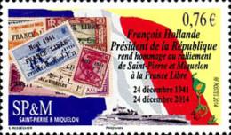 Ref. 334167 * NEW *  - ST. PIERRE AND MIQUELON . 2014. ANNIVERSARY INCORPARACION A LA FRANIA LIBRE. ANIVERSARIO INCORPA - Unclassified