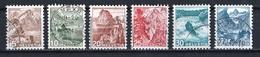 Suisse 1948 : Timbres Yvert Et Tellier N° 461 - 462 - 463 - 464 - 465 Et 466 Oblitérés. - Suisse
