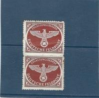 ALLEMAGNE Timbre De Service 1942   Les 2  N° 2  *  ,  YT  Val: 2,00 € - Andere