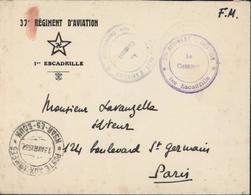 37e Régiment D'aviation Etoile Croix Nazi 1e Escadrille Cachet Poste Aux Armées 13 Avril 32 Ksar Es Souk = Errachidia FM - Lettres & Documents