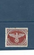 ALLEMAGNE Timbre De Service 1942    N° 2  *  ,  YT  Val: 1,00 € - Sonstige