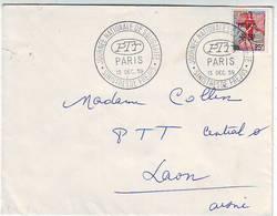 JOURNEE NATIONALE DE SOLIDARITE . SINISTRES DE FREJUS . CACHET COMMEMORATIF DU 13.12.1959. PTT . PARIS - Temporary Postmarks