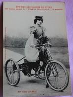 Cyclisme ,   Les Vieilles Gloires Du Cycle : Melle Ellen Jouanny  Pub Pneu Dunlop - Cyclisme