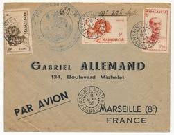 """MADAGASCAR - Env. Affr. Composé Obl Sainte-Marie Madagascar 18/5/1953 - Cadm """"Province De Tamatave..."""" - Covers & Documents"""