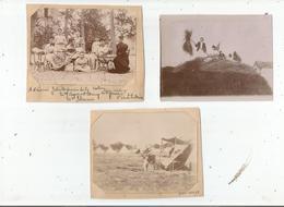 VIVIERS (ARDECHE) ENSEMBLE DE 3 PHOTOS FAMILIALES 1897 ET 1898 - Orte