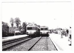 62 Montreuil Sur Mer Vers Le Touquet PHOTO Train Autorail (2) SNCF En Gare Le 10 Mai 1980 VOIR DOS - Trains
