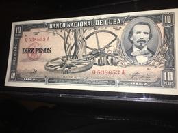 See Photos. Cuba 10 Pesos Banknote 1960. It Seems Uncirculated. - Cuba