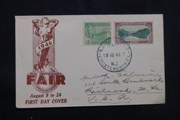 NOUVELLE ZÉLANDE - Enveloppe FDC En 1946 , Industrie Fair Pour Les U.S.A., Affranchissement Plaisant - L 57232 - FDC