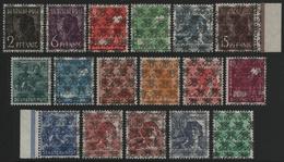 Bizone 1948 - Mi-Nr. 36-51 II K Mit 49 II A K ** - MNH - BPP-Befund - American/British Zone