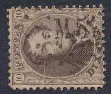 Médaillon Dentelé - N°14 Obl Ambulant Pt M.5 (Bruxelles - Namur) - 1863-1864 Medallions (13/16)
