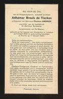 ADEL NOBLESSE - JONKHEER ADHEMAR BREULS De TIECKEN  BURGEMEESTER VA DE MOEREN - LANAKEN 1896  VEURNE 1969 - Décès