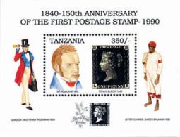 Ref. 584322 * NEW *  - TANZANIA . 1991. STAMP WORLD LONDON 90. INTERNATIONAL PHILATELIC EXHIBITION. STAMP WORLD LONDON 9 - Tanzania (1964-...)