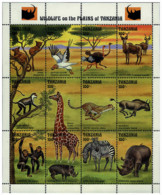 Ref. 598060 * NEW *  - TANZANIA . 1993. WILD FAUNA. FAUNA SALVAJE - Tanzania (1964-...)