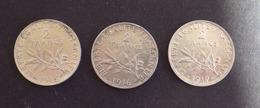 3 Pieces De 2 FRANCS 1915- 1916 - 1917 - I. 2 Francs