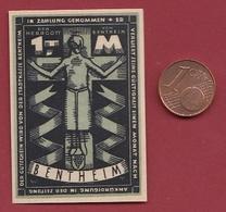 Allemagne 1 Notgeld 1Mark Stadt Bentheim Dans L 'état Lot N °5958 - [ 3] 1918-1933 : République De Weimar