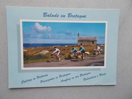 BALADE EN BRETAGNE CYCLISTES  VOYAGEE 1993  FLAMME ST GILDAS DE RHUYS - Bretagne