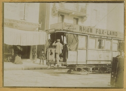 Tirage Citrate Circa 1900. Compagnie Des Tramways De Cannes. La Bocca-Golfe Juan. Tramway. Train. Chemin De Fer. - Photos