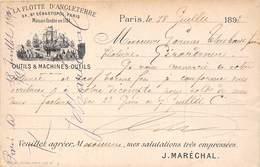 75004-PARIS-LA FLOTTE D'ANGLETERRE 24 BLD DE SEBASTOPOLFONDEE EN 1784, OUTILS ET MACHINES-OUTILS - Arrondissement: 04