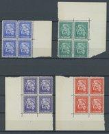 SURINAM 143-46  VB **, 1928, Gouverneur Van Heemstra Stiftung In Randviererblocks, Postfrisch, Gummi Teils Gebräunt Sons - Surinam