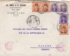 EGYPTE : Double Cachet CENSORSHIP DEPT Sur Lettre D'Alexandrie De 1939 Pour La France - Egypt